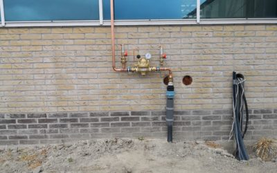 Montage Co2 leiding in tuinbouwsector