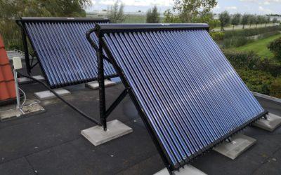 Zonneboiler set met elektrische naverwarming